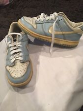 Nike Dunk Low (Retro Old School Look)Girls Youth Sz 4.5 Leather shoe(Blue&White)