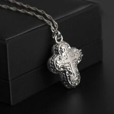925 Sterling Silver Christian Jesus Cross Catholic Crucifix Locket Pendant