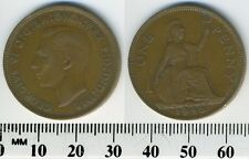 GREAT BRITAIN 1946 - 1 Penny Large Coin - King George V - Britannia seated right