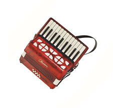 Chanson Accordion 8 bass in Red 22 treble keys (G-E) complete with straps