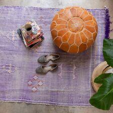SALE! Moroccan Genuine Leather Boho Pouf Ottoman Footstool Pouffe light Brown
