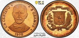 Dominican Republic 1978 Centavo PCGS PR66RD DCAM Red Deep Cameo Proof
