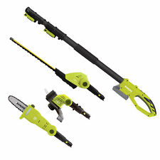 Sun Joe Cordless Lawn Care System | Hedge Trimmer | Pole Saw | Grass Trimmer