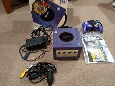 Nintendo Gamecube Indigo Console Complete In Its Original Box, With Controller.