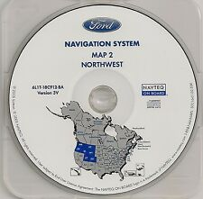 2005 2006 2007 Ford Escape Hybrid Navigation CD Map Cover: OR WA ID MT WY UT CO