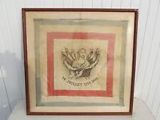 rare mouchoir en soie révolutionnaire de 1880