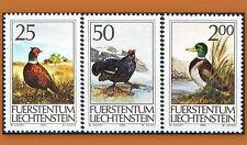 1990 LIECHTENSTEIN N°938/940** CANARD COQ FAISAN CHASSE / BIRDS SC 945-947 MNH