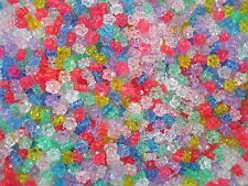 Beads Flower Shaped Plastic Transparent Mix 25g Spacer Jewellery FREE POSTAGE
