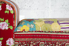 Banc patchwork design 100cm x 55cm x 30cm banque NEUF Emballage d'origine WOW