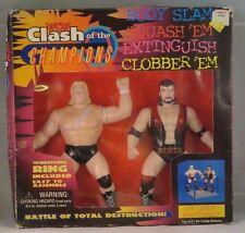 WCW Clash of the Champions Set, 2 figures, 1 ring, LEX LUGAR & SCOTT HALL, 1997