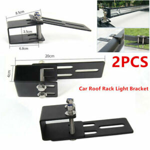 Car Roof Rack LED Work Light Bar Bracket Holder Bumper Mounting Kit Fit For Jeep