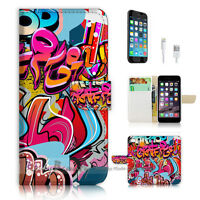 ( For iPhone 6 / 6S ) Wallet Case Cover P0631 Graffiti