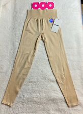 PINK By Victoria Secret Beige Seamless Workout Tight Yoga Pant NEW Medium M NWT*