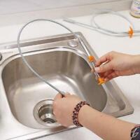 61.5//83cm Kitchen Sewer Dredging Device Tools Spring Sink Pipe Hook X8K8