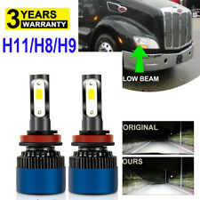 H11 H8 H9 LED Bulbs Headlight Upgrade Kit for Peterbilt 579 587 Headlamps (LOW)