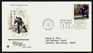 #3186h 33c Abstract Expressionism, PCS FDC **ANY 5=FREE SHIPPING**