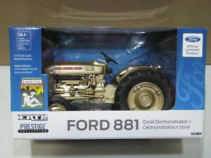 FORD 881 TRACTOR GOLD DEMONSTRATOR NFTM NEW IN BOX 1/16 ERTL 13937