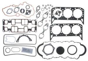 4.3L 262ci Chevy Full Gasket Set Head+Manifold+Oil Pan Vortec car/truck/marine