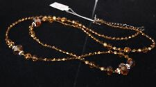 Park Lane AMBER LIGHTS Necklace Genuine Pearls, Austrian Crystals & Glass beads