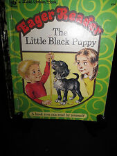 LGB Little Golden Book Eager Reader The Little Black Puppy HB  #804 1975