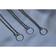 Karma Dainty Round Circle Necklace Eternity Silver Elegant Jewellery Pendant