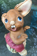 """Vintage Pendefin Stone Crafted """"The Thumper� Figure Burnley England Bunny Rabbit"""