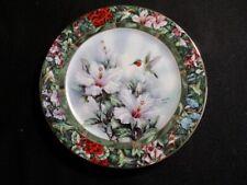 Ruby Throated Hummingbird - Lena Liu Hummingbird Treasury Limited Plate