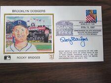 Rocky Bridges Autograph / Signed Z Silk Cachet / Envelope Brooklyn Dodgers