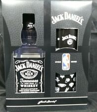Jack Daniels NBA Gift Set 2 Rocks Glasses + 1 empty 750ml Bottle. Mancave