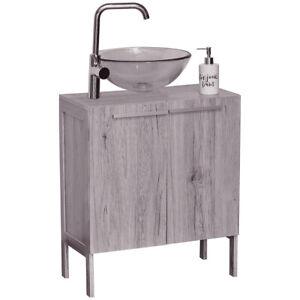 Freestanding Non Pedestal Under Sink Vanity Cabinet Bath Storage Wood