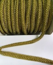 9MM Metallic Gold Heavy Braid Scallop Edge Cord Trim  - 1 Yard (T1101)