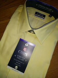 NWT, $65. Men's CHAPS Ultimate Cotton No Iron Stretch Collar Regular Fit Shirt