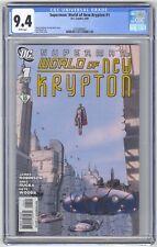Superman: World of New Krypton #1 CGC 9.4 HIGH GRADE DC Comic Gary Frank Cover