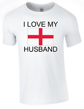 valentine I Love my English Husband Printed DTG (Direct to Garment) for a perman