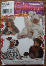 Dog Rabbit Money Mouse costume pattern 5432 size 1/2 1 2 3 4