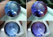 Runder blauer FLUORIT, mit Farbwechsel bei warmen Licht, VVS , 12 ct