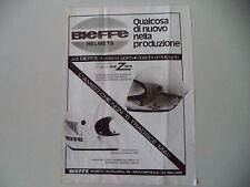 advertising Pubblicità 1976 CASCO BIEFFE HELMETS X 4001/X2001 X 2001