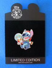 Disney Pin DisneyStore.com - Santa Clause Series - Stitch w/ Snow Globe LE250