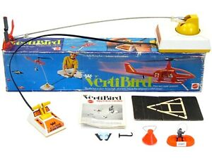 Vintage 197 Mattel VertiBird Astronaut Rescue Helicopter Complete w/Box Works