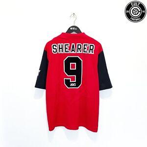 1995/96 SHEARER #9 Blackburn Rovers Vintage Asics Away Football Shirt Jersey (L)