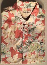 Cooke Street Hawaiian Men's Shirt L Rust With Green Leaves