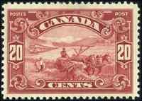 Canada #157 mint VF OG H DG 1929 Scroll 20c dark carmine Harvesting Wheat