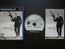 007 QUANTUM OF SOLACE : JEU Sony PLAYSTATION 2 PS2 (James Bond COMPLET suivi)