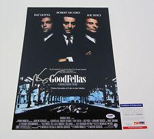 Martin Scorsese Director Signed Autograph Goodfellas Movie Poster PSA/DNA COA