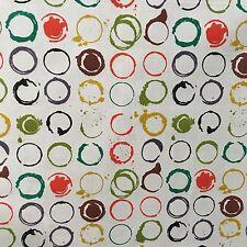 """ORGANIC COTTON Crossweave 'Funky Scratch: VERNICE """"stampato in tessuto per 25cm"""
