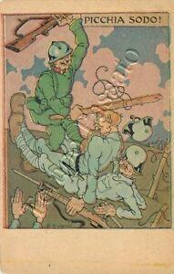 721 - Regno - Franchigia militare F 14H/12, 1917 / illustratore Rubino