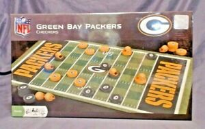 NFL LICENSED GREEN BAY PACKERS CHECKERS GAME, AGE 6 & UP, MASTERPIECE, NIB
