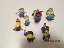 "Assorted Minions figurines (7) 1 1/2 to 2"" each pre-owned excellent condition"