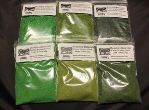 Scatter Flock Material Green Multipack - 6 x 20g Packs - Hornby Wargame Diorama