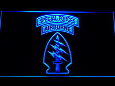 US Army Special Forces Air Borne LED Neon Light Sign Man Cave F145-B